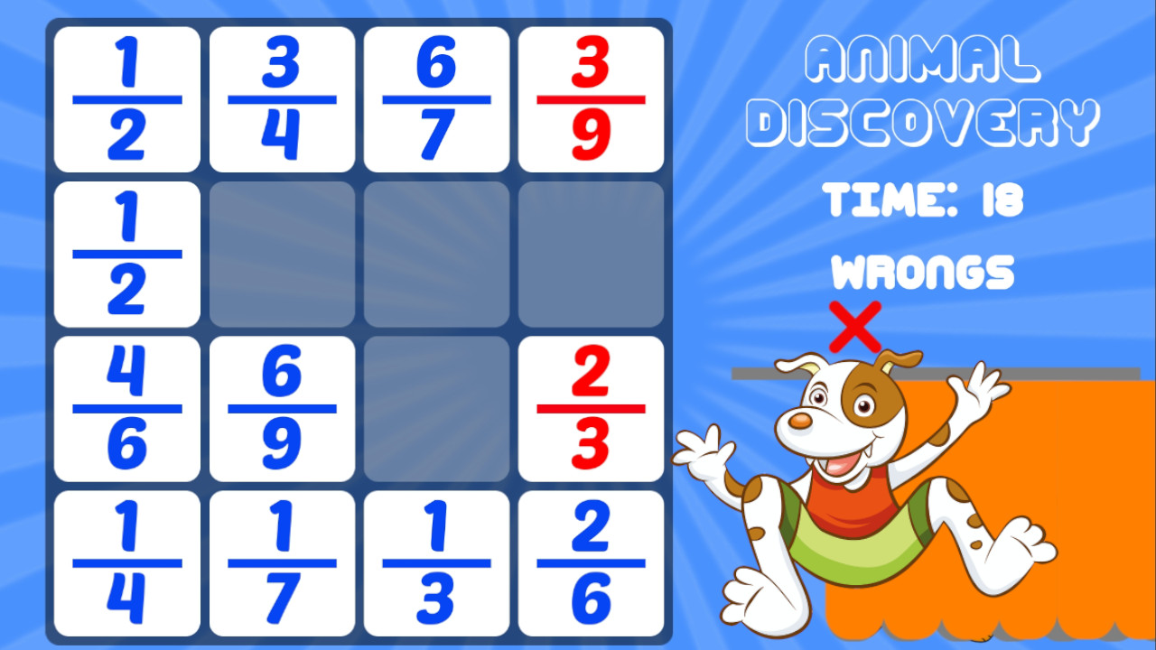 Animal Discovery Fraction Addition